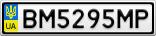 Номерной знак - BM5295MP