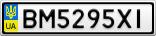 Номерной знак - BM5295XI