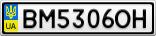 Номерной знак - BM5306OH