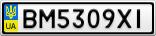 Номерной знак - BM5309XI
