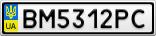 Номерной знак - BM5312PC