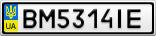 Номерной знак - BM5314IE