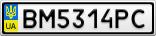Номерной знак - BM5314PC