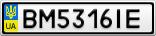Номерной знак - BM5316IE