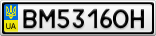 Номерной знак - BM5316OH