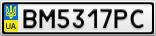 Номерной знак - BM5317PC