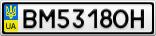 Номерной знак - BM5318OH