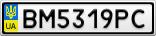 Номерной знак - BM5319PC