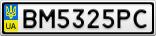 Номерной знак - BM5325PC