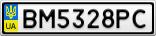 Номерной знак - BM5328PC