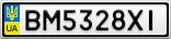 Номерной знак - BM5328XI