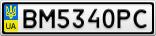 Номерной знак - BM5340PC