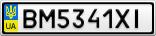 Номерной знак - BM5341XI