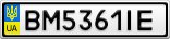 Номерной знак - BM5361IE