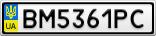 Номерной знак - BM5361PC