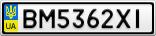 Номерной знак - BM5362XI