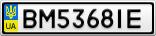 Номерной знак - BM5368IE