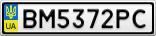 Номерной знак - BM5372PC