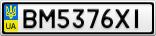 Номерной знак - BM5376XI