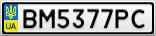 Номерной знак - BM5377PC