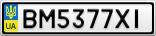 Номерной знак - BM5377XI