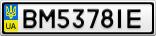 Номерной знак - BM5378IE