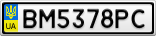 Номерной знак - BM5378PC