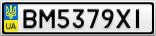 Номерной знак - BM5379XI