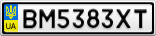 Номерной знак - BM5383XT