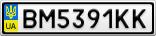 Номерной знак - BM5391KK