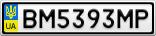 Номерной знак - BM5393MP