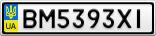Номерной знак - BM5393XI