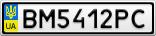 Номерной знак - BM5412PC
