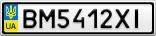 Номерной знак - BM5412XI