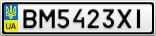 Номерной знак - BM5423XI