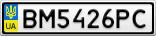 Номерной знак - BM5426PC