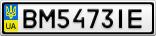 Номерной знак - BM5473IE