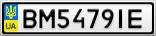 Номерной знак - BM5479IE