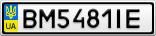 Номерной знак - BM5481IE