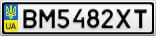 Номерной знак - BM5482XT