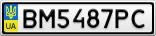 Номерной знак - BM5487PC