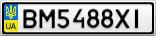 Номерной знак - BM5488XI