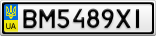 Номерной знак - BM5489XI