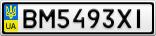 Номерной знак - BM5493XI