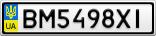 Номерной знак - BM5498XI