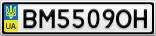 Номерной знак - BM5509OH