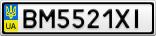 Номерной знак - BM5521XI