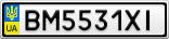 Номерной знак - BM5531XI
