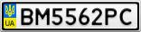 Номерной знак - BM5562PC