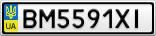 Номерной знак - BM5591XI